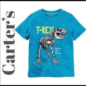 """♥️🆕 Carter's """"T-Rex"""" Skeleton Graphic Tee (2T)"""